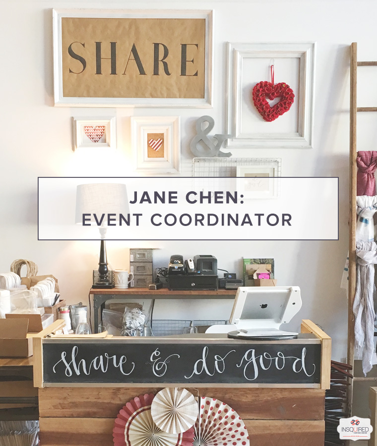 Jane Chen, Event Coordinator at Share & Do Good