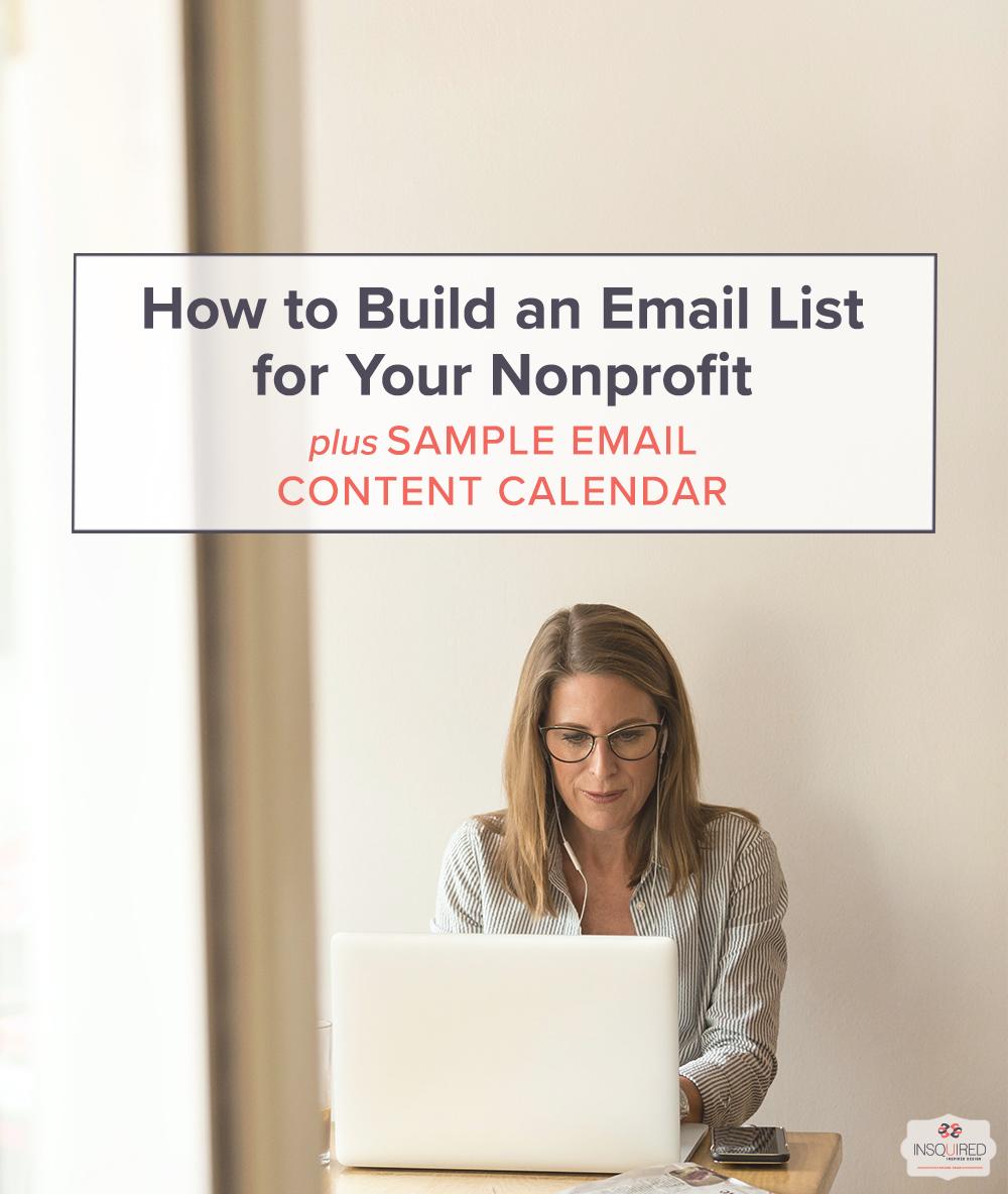 How To Build an Email List for Your Nonprofit