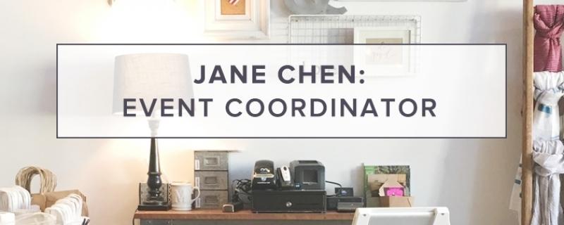 Jane Chen: Event Coordinator